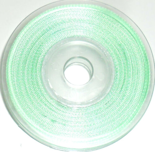ASSORTED COLOURS 25MTR REEL 3MM TOP QUALITY DOUBLE SIDED SATIN RIBBON