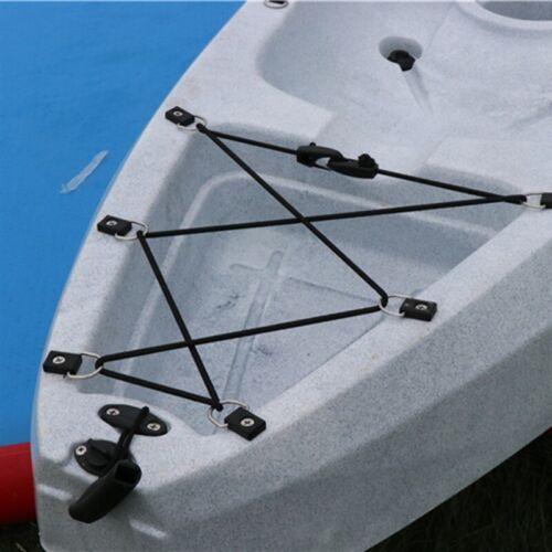 5Pcs Kayak Canoe Boat Bungee Tie Down Loop Pad Eye Buckle Deck Fitting D-ring SH