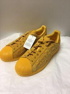 Mens Yellow Shell Toe Adidas Sneakers