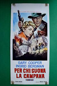 L11 Plakat Für Wer Spielt Die Glocke Gary Cooper Ingrid Bergman Sam Wood Selt