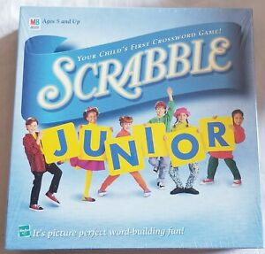 SCRABBLE-JUNIOR-Crossword-Board-Game-1999-By-Milton-Bradley-New-and-sealed