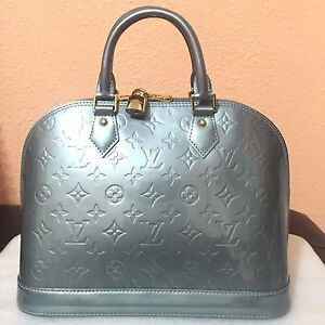 Image Is Loading Louis Vuitton Vernis Alma Pm Satchel Patent Bag