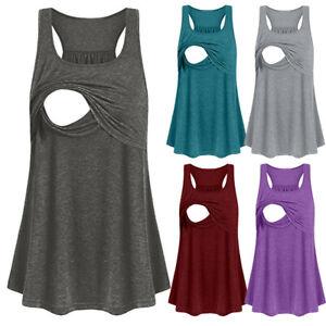 Women-Maternity-Loose-Comfy-Pull-up-Nursing-Tank-Tops-Vest-Breastfeeding-Shirt
