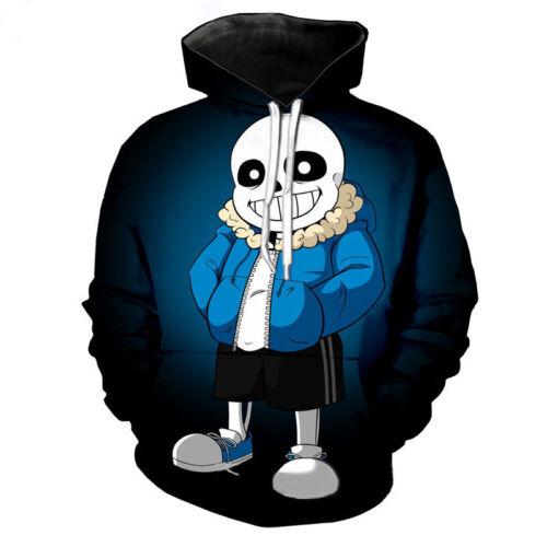 Game Undertale Sans Papyrus Cosplay Sweatshirt Men Casual Hoodie Pullover