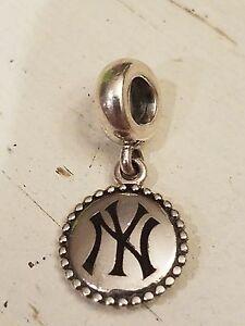 Authentic Pandora New York Yankees Sterling Dangle Charm