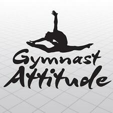 Gymnastics Vinyl Sticker Graphics, Girl Gymnast vinyl wall decal,Gymnast sticker