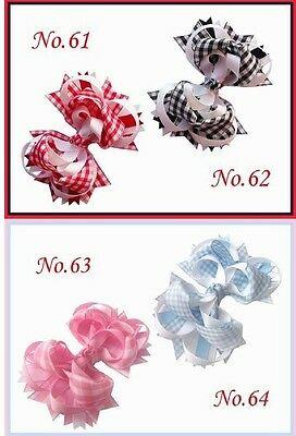"""50 BLESSING Good Girl Boutique 4.5/"""" Funky Hair Bow Clip 92 Styles"""
