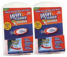 2 Win Cleaner USB As Seen on TV One Click PC Computer Clean Repair Protect NEW