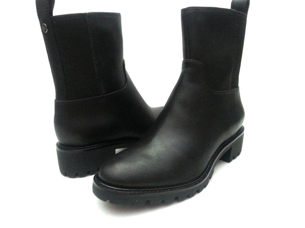 Cole Haan Ellison Sh.bt.wp.ii Women Leather Mid Calf Size 6.5