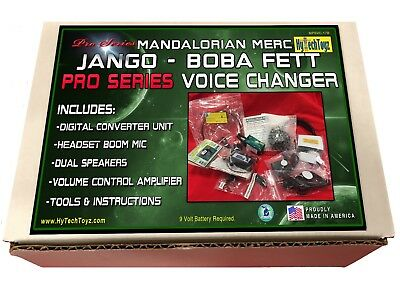 MANDALORIAN BOBA FETT HELMET VOICE CHANGER COSPLAY SET WITH SPEAKER /& MICROPHONE