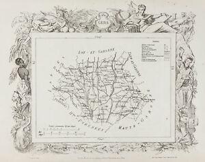 1870ca-Antique-Map-Gers-amp-Gironde-County