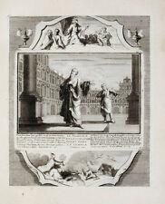 1728 Kupferstich Demarne Biblia Bibel Pharisäer und Zöllner