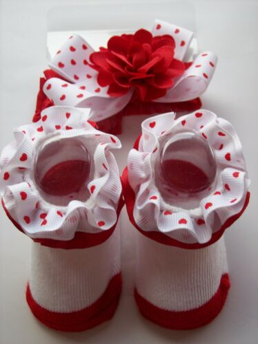 Stepping Stone Crib Shoes Booties Sock Headwrap Baby Valentine Select Style