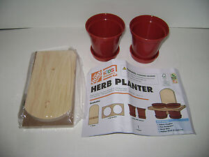Details About New Home Depot Kid Workshop Herb Planter Set Kit Lowes Build Grow Wooden Project