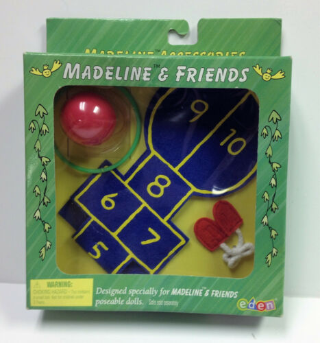 "Madeline 8/"" Doll Hopscotch Hula Hoop Ball Jump Rope by Eden 33461 NIB"