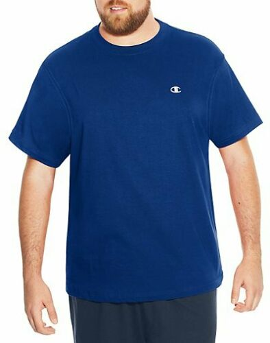 Champion Mens Short Sleeve Jersey T-Shirt Big Tall Crew Neck All Sizes 6 Colors