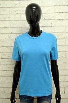 Sensibile Maglia Calvin Klein Donna Taglia L Maglietta Shirt Woman Cotone Manica Corta Blu Una Grande Varietà Di Modelli