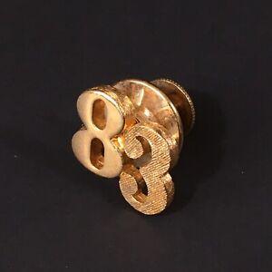 Vintage Avon Christmas Bear Golden Metal Lapel Tie Tack Pin.