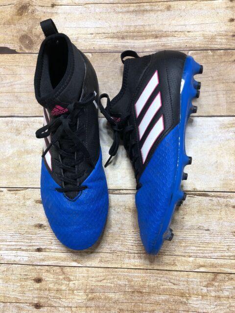 size 40 bfe68 2844d Men's ADIDAS Ace 17.3 FG Primemesh Blue Black Soccer Cleats Shoes Size 6  Men's