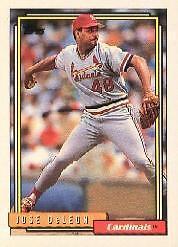 1992 Topps Jose Deleon 85 Baseball Card