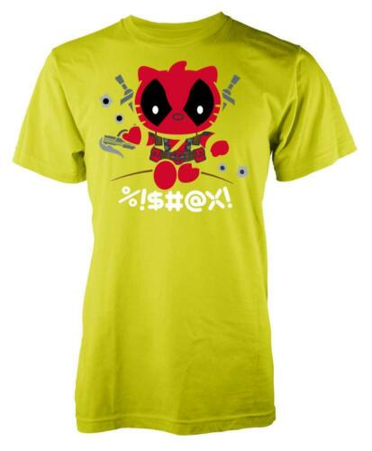 Kitty Hello Deadpool Mashup Adult T Shirt