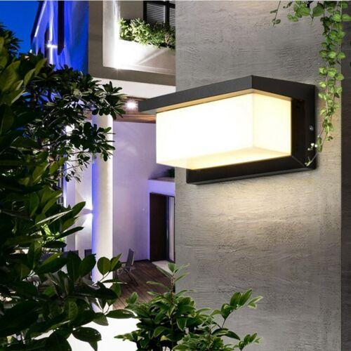 12//18W Außenleuchte LED Wandleuchten Außenlampe Bewegungsmelder Wandlampe IP65