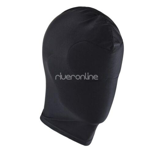 US/_Blindfold Eye Mask Adult Black Lingerie Headgear Hood Role Play Fancy Costume
