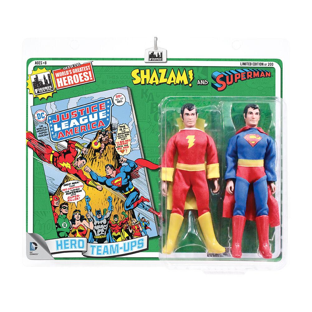 DC Comics Estilo Retro 8 Pulgadas Retro Figura de dos componentes  qué demonios & Superman