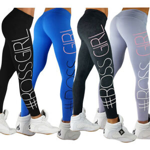 Cool Women Yoga Set Running Pants Gym Workout Fitness Clothes Tights ... 183327766