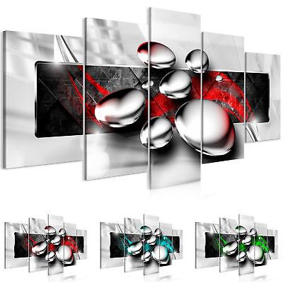 Wandbilder xxl Abstrakt grau rot grün Leinwand Bilder Wohnzimmer  a-A-0354-b-n | eBay