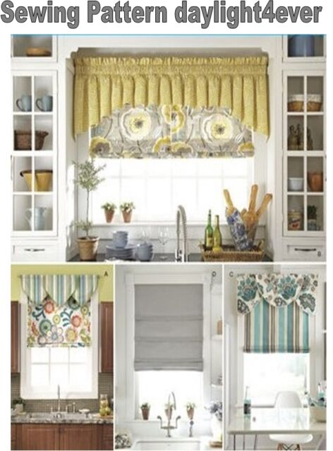 Simplicity 1684 Window Treatments Scallop Toman Shade Tri Valance