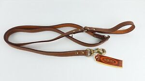 New-Auburn-Leathercrafters-Tuscany-Collection-Dog-Walking-Leash-Brown-72-034