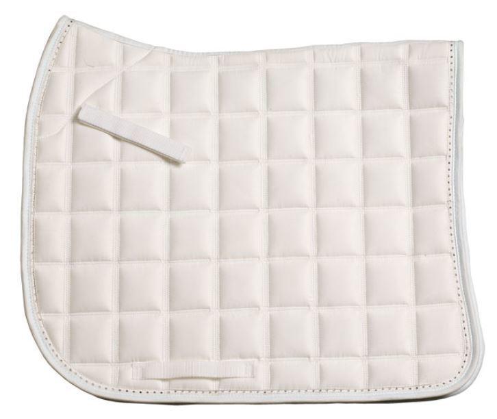 ZILCO Diamante Trim Dressage Saddle Cloth - White FREE POSTAGE