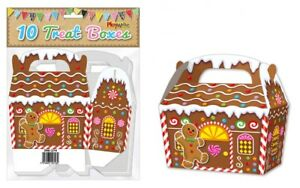 10-Gingerbread-Treat-Boxes-Christmas-Gift-Party-Kids-Cupcake-Xmas-Wrapping-Bag