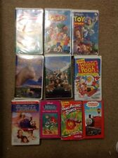 LOT OF 10 VHS DISNEY VIDEOS - Toy Story Winnie The Pooh Dinosaur Goofy Movie