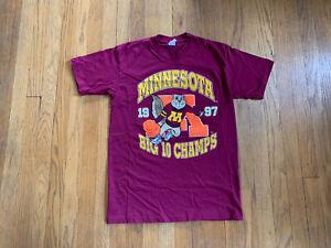 Minnesota-Golden-Gophers-Vintage-90-s-Single-Stitch-Big-10-Basketball-T-Mens-M