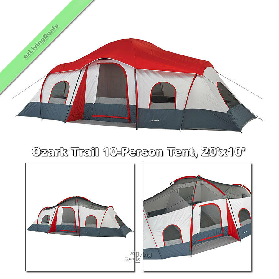 Ozark trail cabin tent 10 person large family outdoor for What is a tent cabin