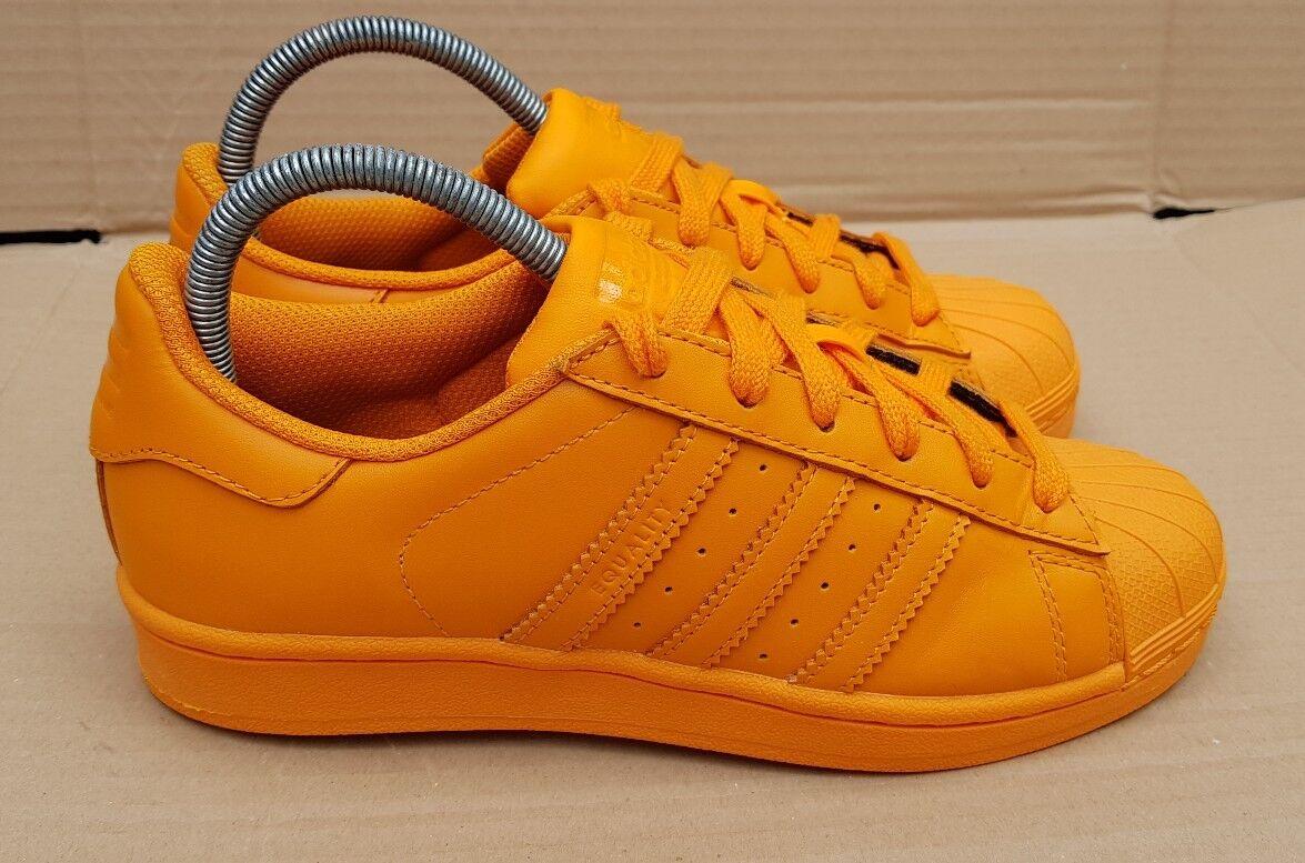 Preciosa Adidas Superstar Ii Pharrell Williams Williams Pharrell Entrenadores Reino Unido Naranja como Nuevo 61e732