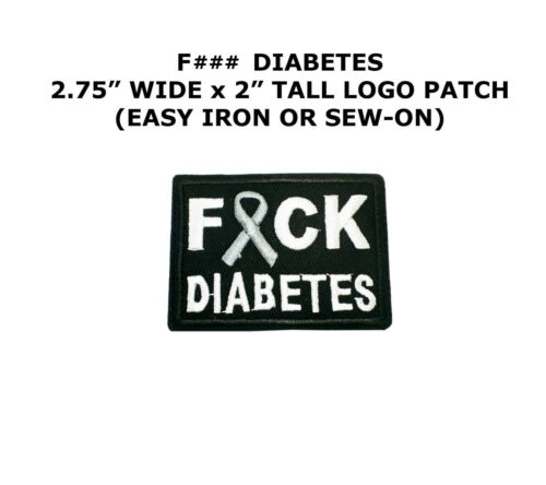 4309 F### Diabetes Embroidered Patch 2.75x2 inch
