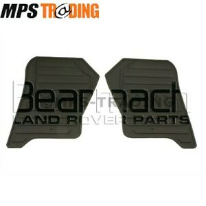 BEARMACH-LAND-ROVER-DISCOVERY-4-FRONT-BLACK-RUBBER-MAT-SET-PAIR-BA3514