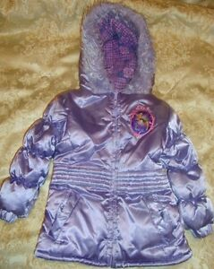 "Tinkerbell/disney/fairies~girls~lavender/faux/fur/trimmed/hood/jacket! ""euc"" Selling Well All Over The World 3t"