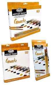 Royal Langnickel Guazzo Artista Colori & Pennello Set 12ml Tubi Confezioni 12 18