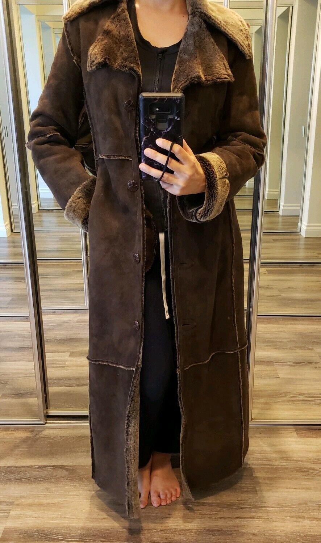 Workshop NY full length shearling coat lightweigh… - image 11