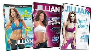 JILLIAN-MICHAELS-6-WEEK-SIX-PACK-EXTREME-SHED-AND-SHRED-HARD-BODY-3-DVD