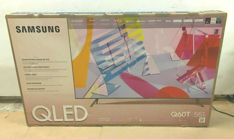 Samsung Q60T 55 QLED Smart TV (4K) QN55Q60TAFXZA NOB ✅❤️️✅❤️️. Available Now for 499.99
