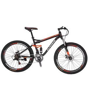 S7-Full-Suspension-Mountain-Bike-21-Speed-Mens-Bicycle-27-5-034-MTB-Disc-Brakes-L