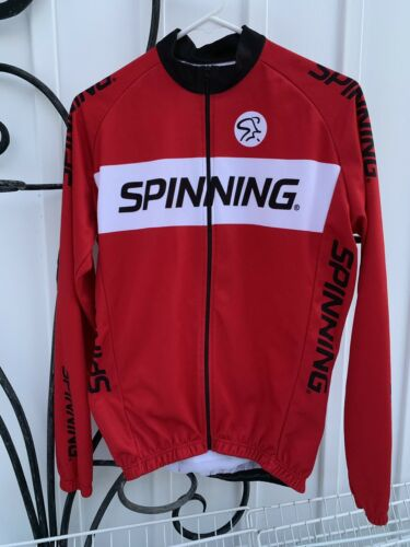 Men's M MAD DOGG ATHLETICS STAR TRAC Spinning Cyclisme Rouge Full Zip Veste Italie