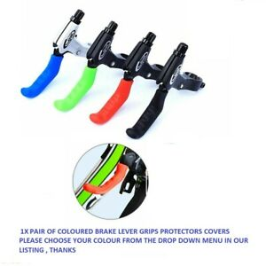 2 Pairs Brake Levers Mountain Bike MTB BMX Brake Lever Grips Protector Cover