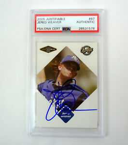 Jared-Weaver-2005-Justifiable-Signed-Autograph-Rookie-Card-RC-PSA-DNA-COA