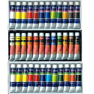 Jack-Richeson-12-Colours-x-12ml-Watercolour-Oil-Gouache-Acrylic-PAINT-TUBES-SET